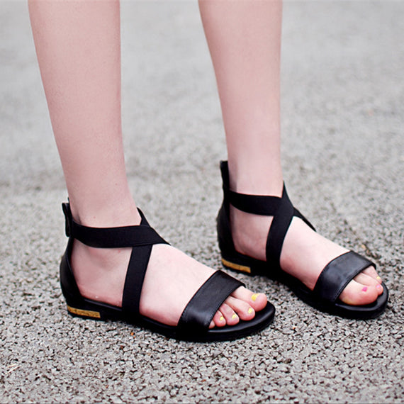 Black Strappy Sandals-Dee SuSu-Dee SuSu