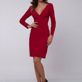 Backless Bodycon V Neck Sexy Women's Sheath Dress-Dee SuSu-Dee SuSu