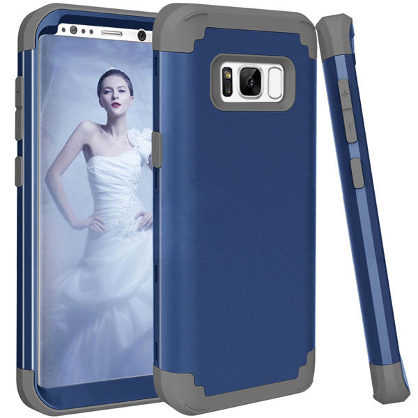 Shockproof Full Body Protective Cover Phone Cases For Samsung-Dee SuSu-Dark Blue and Gray-For Galaxy S8-Dee SuSu