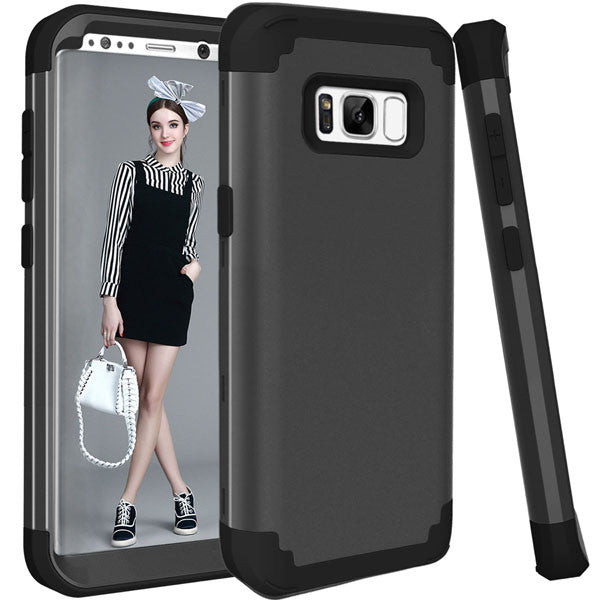Shockproof Full Body Protective Cover Phone Cases For Samsung-Dee SuSu-Black-For Galaxy S8-Dee SuSu