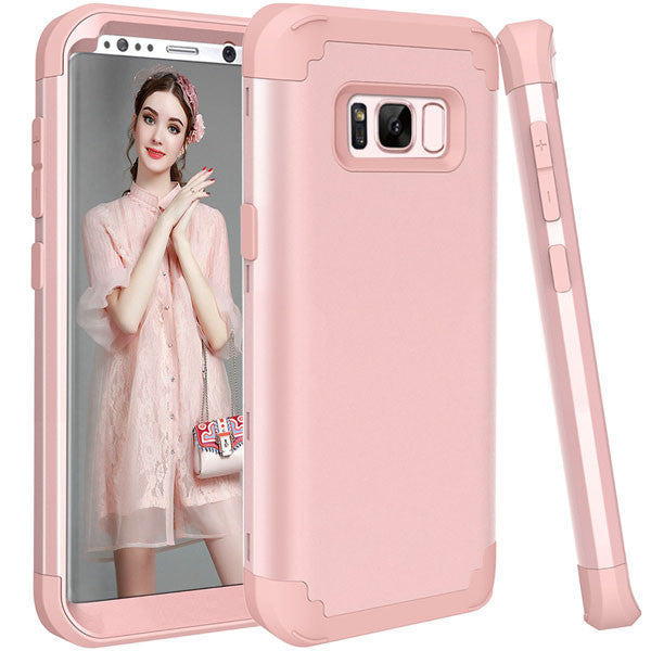 Shockproof Full Body Protective Cover Phone Cases For Samsung-Dee SuSu-Rose Gold-For Galaxy S8-Dee SuSu
