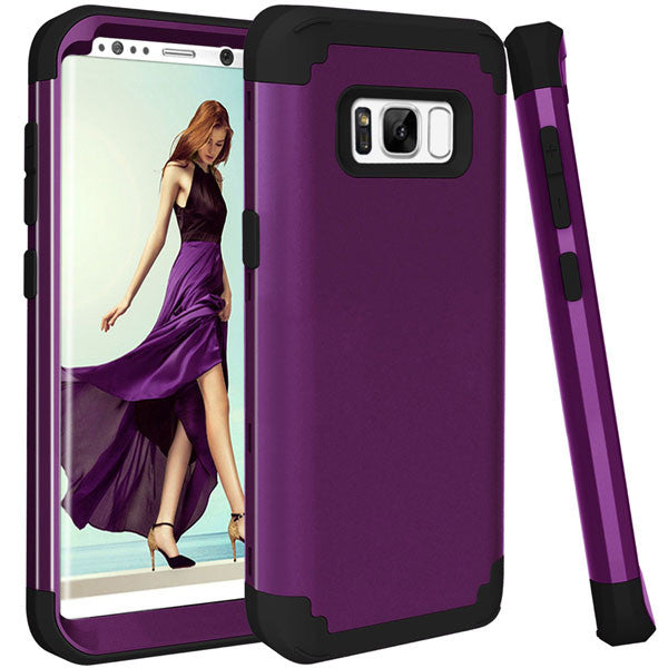 Shockproof Full Body Protective Cover Phone Cases For Samsung-Dee SuSu-Purple and Black-For Galaxy S8-Dee SuSu
