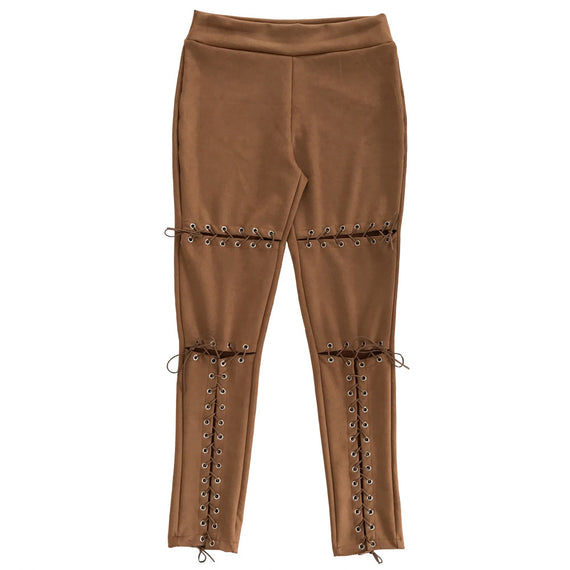 Sexy Tight Ripped Destroy Pants-Dee SuSu-Brown-L-Dee SuSu