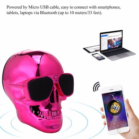 Portable Skull Shape Bluetooth Speaker For PC & Smartphone-Dee SuSu-Dee SuSu