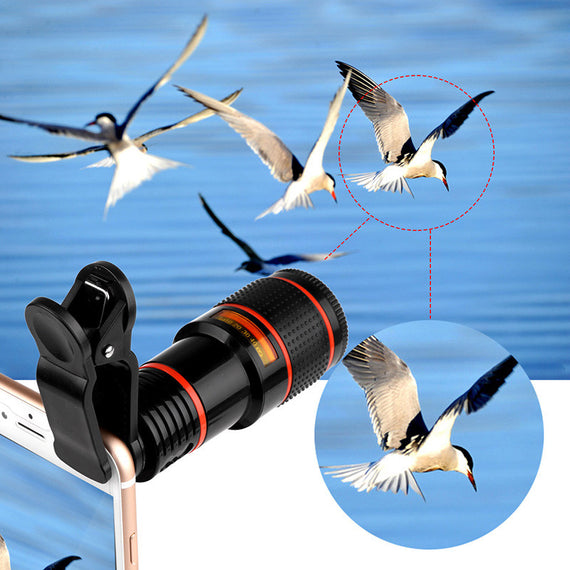 Mobile Phone Telephoto Lens (No Dark Corner) 12 X Zoom with Clips Universal for All Phones-Dee SuSu-Dee SuSu