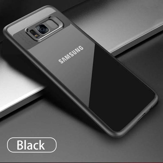 Fitted Slim Transparent Silicone Shockproof Armor Cases For Samsung-Dee SuSu-Black-For Samsung S8-Dee SuSu
