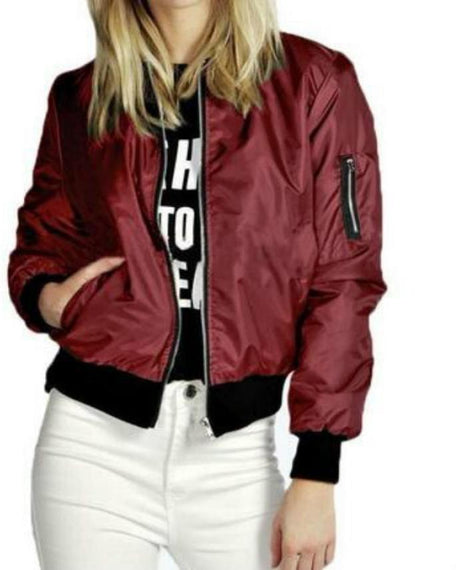 Women's Slim fit Biker Motorcycle Soft Zipper Short Jacket-Dee SuSu-Dee SuSu