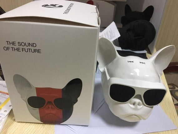 Wireless Bulldog Bluetooth Speaker-Dee SuSu-white with box-Dee SuSu