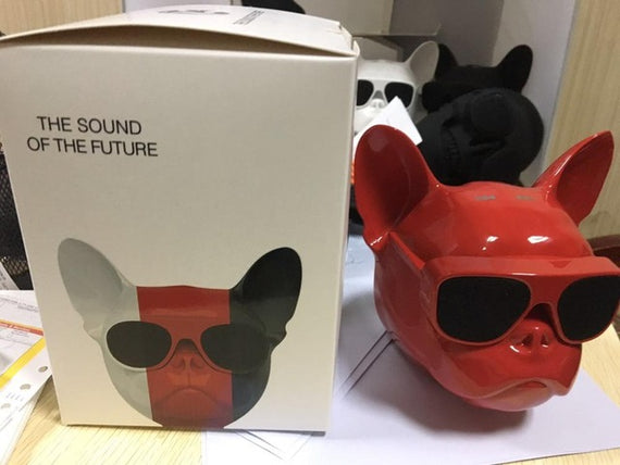 Wireless Bulldog Bluetooth Speaker-Dee SuSu-red with box-Dee SuSu