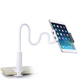 Flexible Long Arms Mobile Phone Holder for iPhone IPad-Dee SuSu-White-Dee SuSu