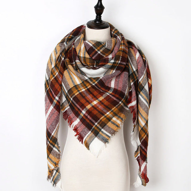Warm Casual Winter Scarf For Women-Dee SuSu-Color 25-Dee SuSu