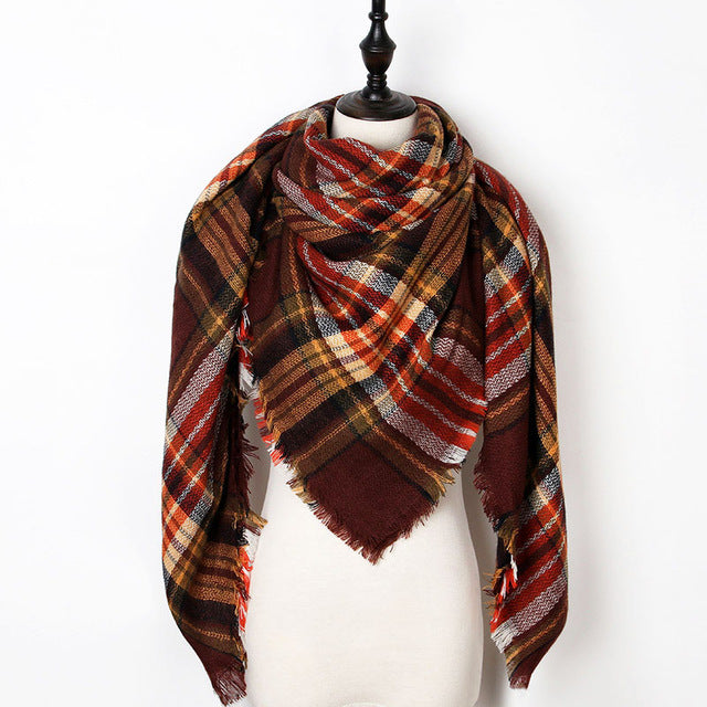 Warm Casual Winter Scarf For Women-Dee SuSu-Color 26-Dee SuSu