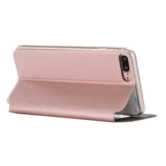 Flip Leather Case Cover with Smart Window Metal Sliding For iPhone-Dee SuSu-Dee SuSu