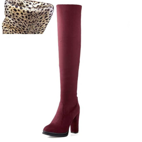 Winter Over Knee High Heel Boots-Dee SuSu-Red velvet lining-4-Dee SuSu
