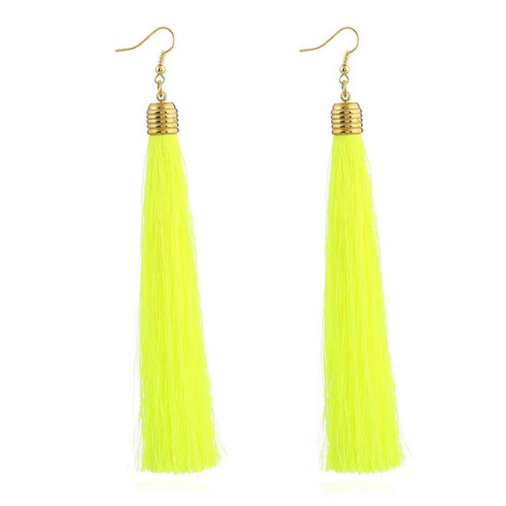 Vintage Long Tassel Geometric Alloy Plating Dangle Drop Earrings-Dee SuSu-yingguanglv-Dee SuSu