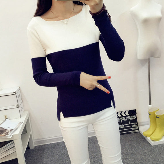 Breathable Knitted High Elastic Jumper Sweaters And Pullovers-Dee SuSu-Dee SuSu