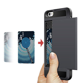 Hybrid Tough Card Storage Armor Case For Apple iPhone-Dee SuSu-Dee SuSu