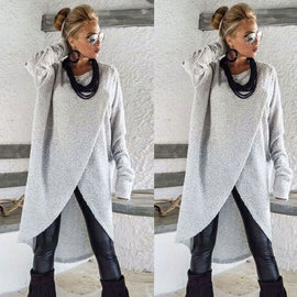 Irregular Knitting Loose Long Blouse