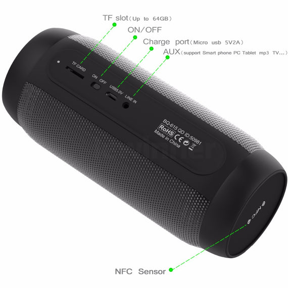 Portable Waterproof LED Bluetooth Speaker with Flashing Lights and FM-Dee SuSu-Dee SuSu