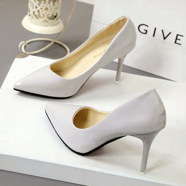 New Fashion thin classic high heels pumps-Dee SuSu-beige 7CM-4.5-Dee SuSu