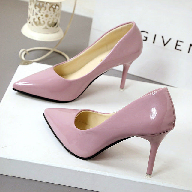 New Fashion thin classic high heels pumps-Dee SuSu-Pink 7CM-4.5-Dee SuSu