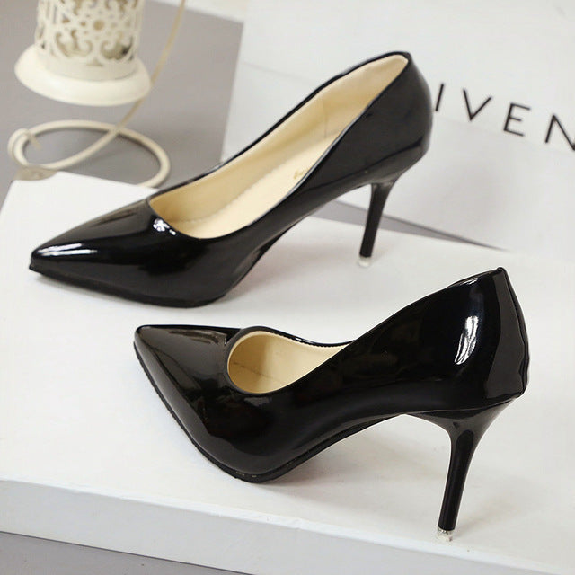 New Fashion thin classic high heels pumps-Dee SuSu-Black 7CM-4.5-Dee SuSu