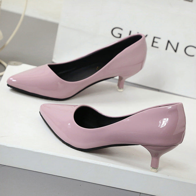 New Fashion thin classic high heels pumps-Dee SuSu-Pink 4CM-4.5-Dee SuSu