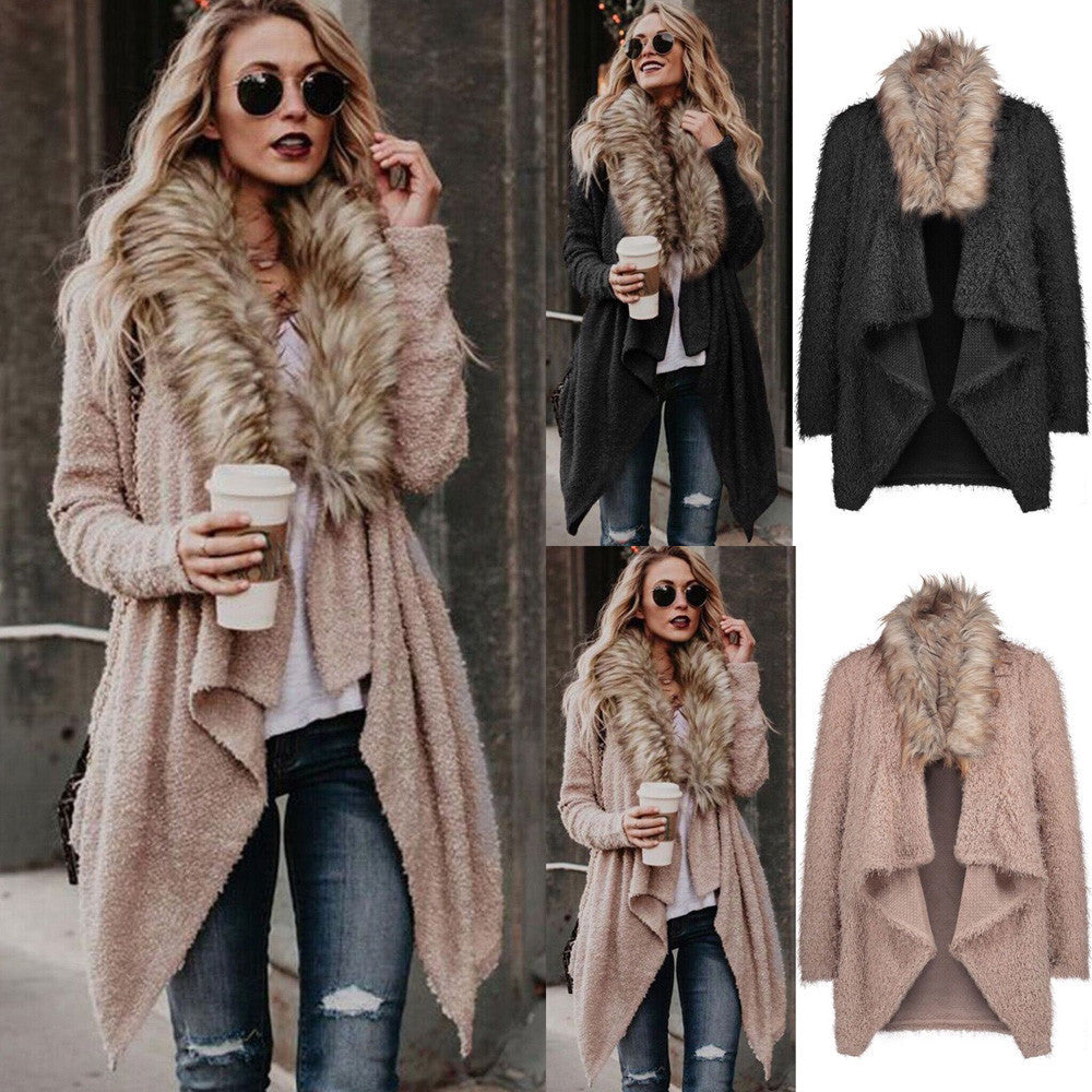 Knit Long Sleeve Tops Cardigan Parka Outerwear Coat-Dee SuSu-Dee SuSu