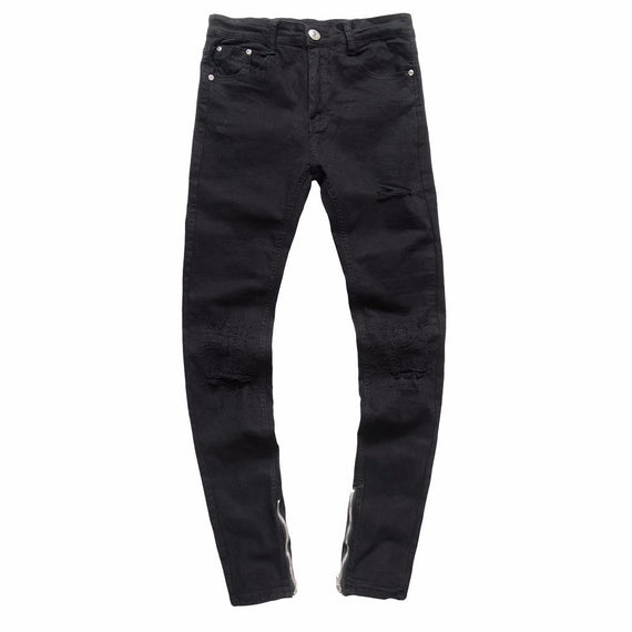 Mens Ripped Slim Fit Motorcycle Vintage Denim Jeans-Dee SuSu-33-Dee SuSu