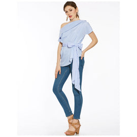 Baby Blue Cotton Waist Coat-Dee SuSu-Dee SuSu