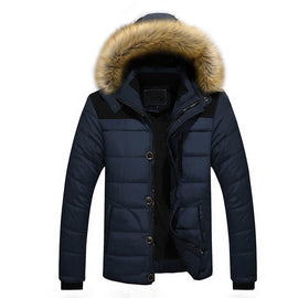 Outdoor Warm Thick Jacket Plus Fur Hooded-Dee SuSu-Blue-XXXXL-Dee SuSu