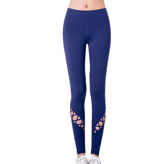 Quick Dry Tight Fitting Breathable Yoga Pants/Legging-Dee SuSu-Blue-L-Dee SuSu