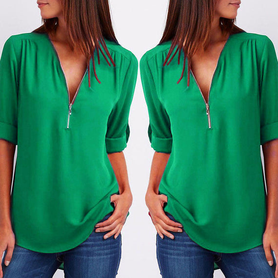 Casual Loose Top Long Sleeve Blouse