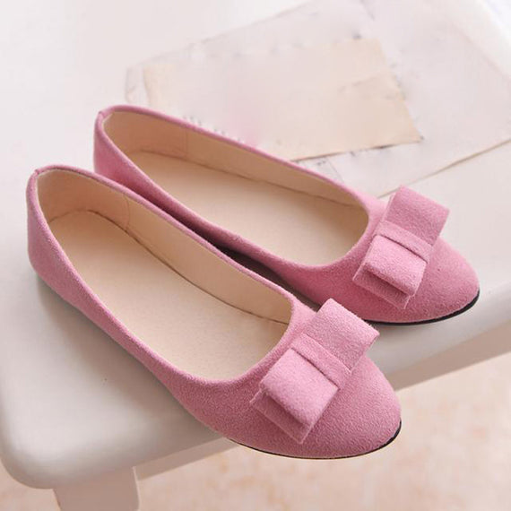 Flats Bow Tie Slip-on Comfortable Loafers Shoes