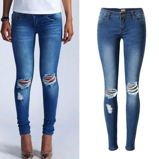 NEW Fashion Pencil ripped jeans-Dee SuSu-018-34-Dee SuSu