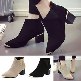 High Heels Ankle Sexy Pointed Toe Martin Boots
