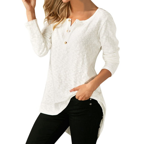 Casual Long Sleeve Top Blouse