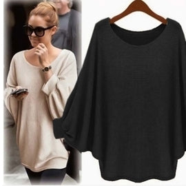 Batwing Long Sleeve Knitted Loose Cardigan