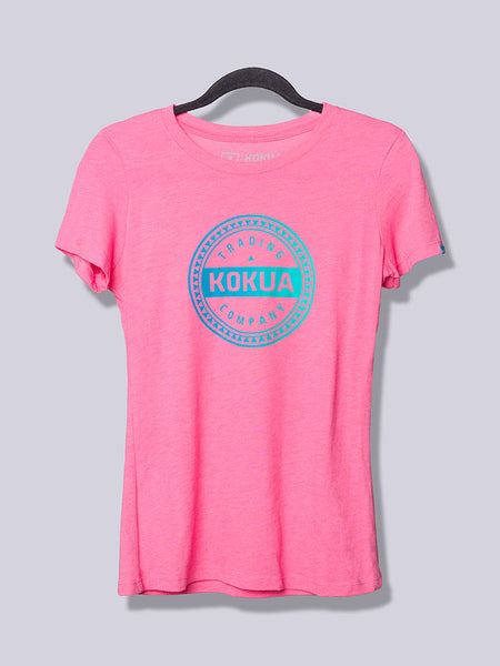 Women's Kokua Circle Blue / Teal Blend on Vintage Pink