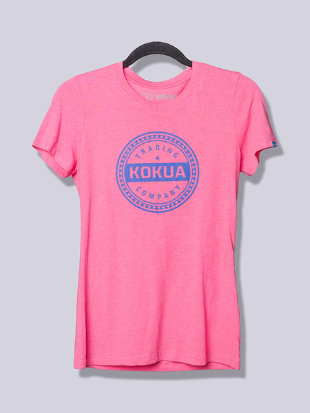 Women's Kokua Circle Purple on Vintage Pink