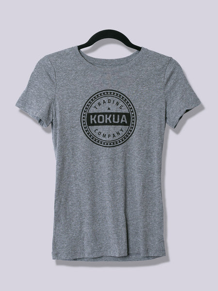 Women's Kokua Circle Black on Premium Heather