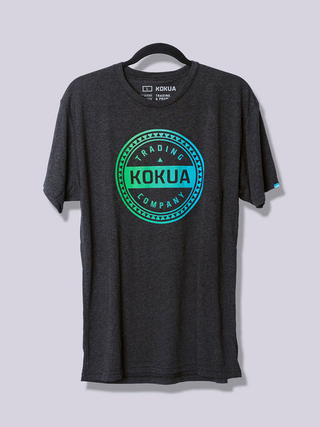 Men's Kokua Circle Green / Teal Blend on Vintage Black