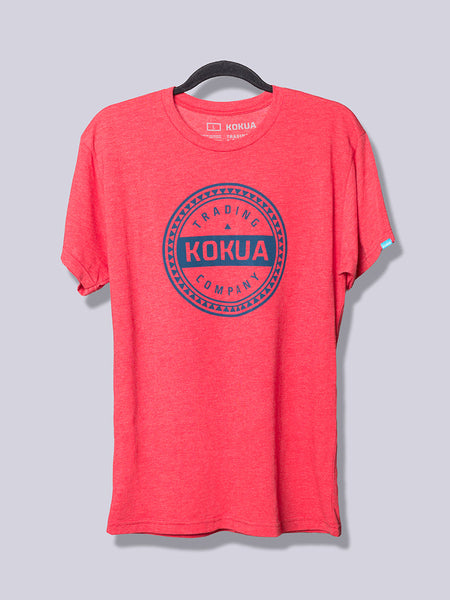 Men's Kokua Circle Blue on Vintage Red