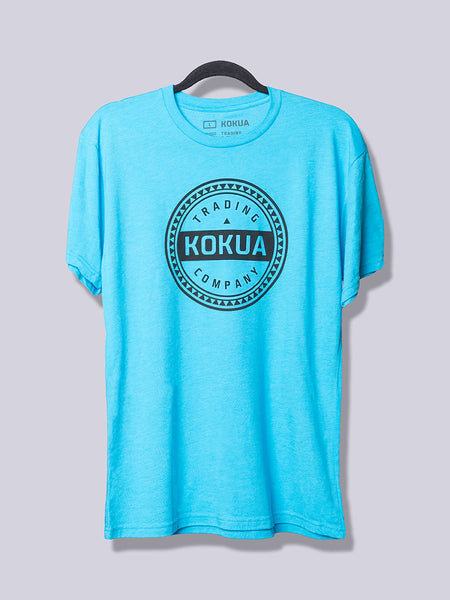 Men's Kokua Circle Black on Vintage Turqoise