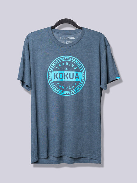 Men's Kokua Circle Blue on Heather Indigo