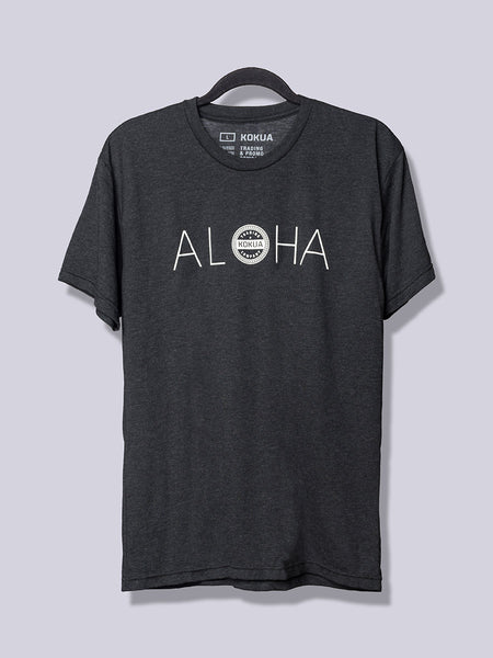 Men's Aloha White on Vintage Black