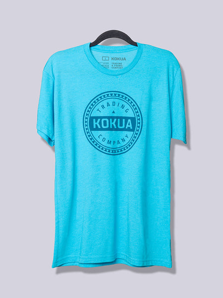Men's Kokua Circle Blue on Vintage Turquoise