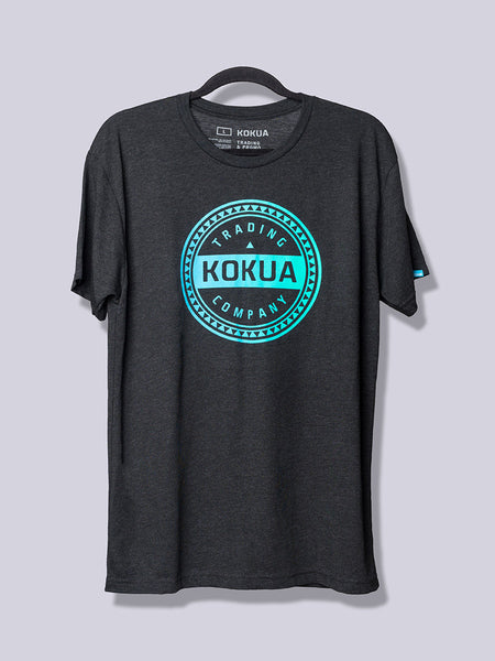 Men's Kokua Circle Blue / Teal Blend on Vintage Black