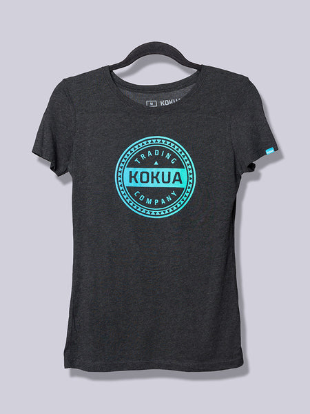 Women's Kokua Circle Blue / Teal Blend on Vintage Black