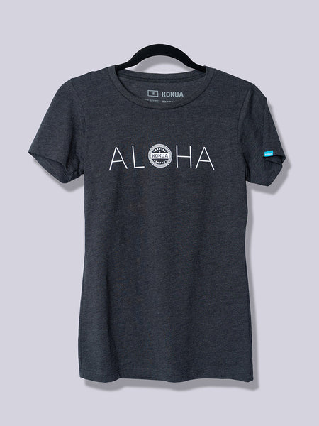 Women's Aloha White on Heather Charcoal